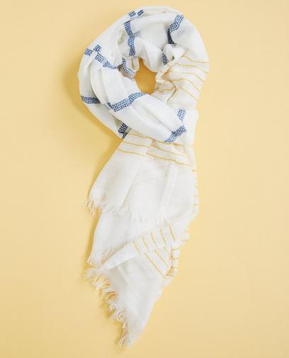 Roomwitte viscose sjaal